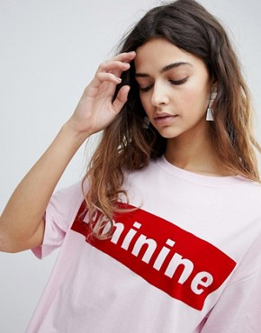 photo Slogan T-Shirt Dress by Soaked in Luxury, color Pink - Image 3