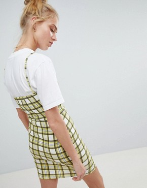 photo 90's Cami Dress in Check by Daisy Street, color Yellow - Image 2