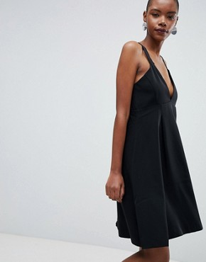 photo Kassia A-Line Midi Dress by Selected, color Black - Image 1