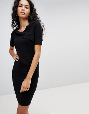 photo Roma Manja Wrap Dress by Only, color Black - Image 1