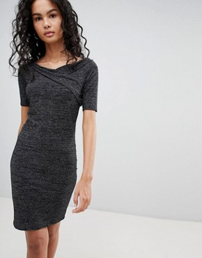 photo Roma Manja Wrap Dress by Only, color Silver - Image 1