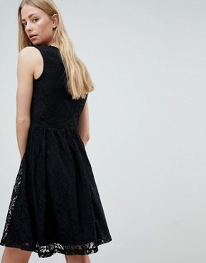 photo Armilla Lace Sleeveless Dress by Only, color Black - Image 2