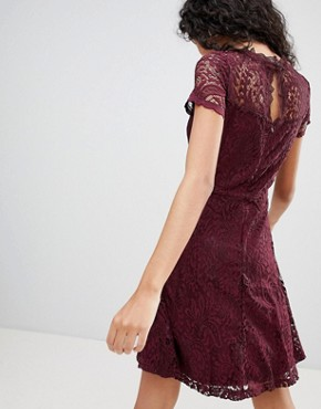photo Mystery Lace Skater Dress by Only, color Port Royale - Image 2