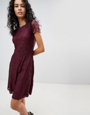 photo Mystery Lace Skater Dress by Only, color Port Royale - Image 1