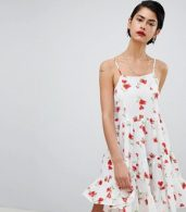 photo Cami Strap Floral Smock Dress by Missguided, color Multi - Image 1