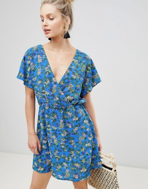photo Floral Printed Tea Dress by JDY, color Multi - Image 1