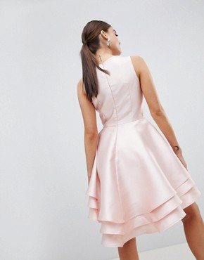 photo Hi Lo Prom Dress by Club L, color Pink - Image 2