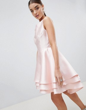 photo Hi Lo Prom Dress by Club L, color Pink - Image 1