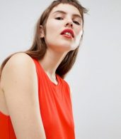 photo Jersey Sleeveless Mini T-Shirt Dress by Monki, color Red - Image 3