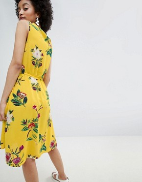 photo Bright Floral Sleeveless Skater Dress by Only, color Multi - Image 2