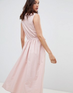 photo Dance with Me Organic Cotton Pinafore Dress by Kowtow, color Rose - Image 2
