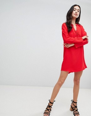 photo Shift Dress by QED London, color Red - Image 4