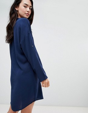 photo Shift Dress by QED London, color Navy - Image 2