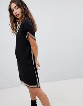 photo Shift Dress with Trim Detail by QED London, color Black - Image 1