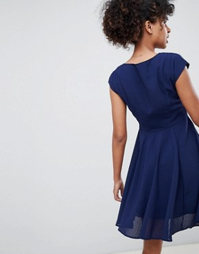 photo Skater Dress by QED London, color Navy - Image 2