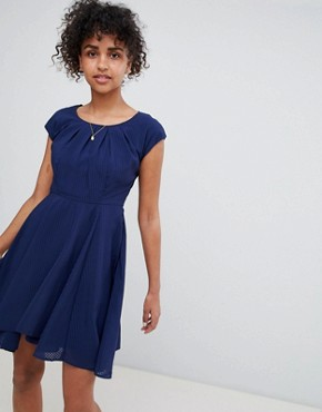 photo Skater Dress by QED London, color Navy - Image 1