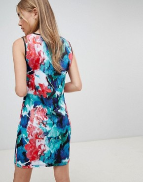 photo Floral Skater Dress by QED London, color Multi - Image 2