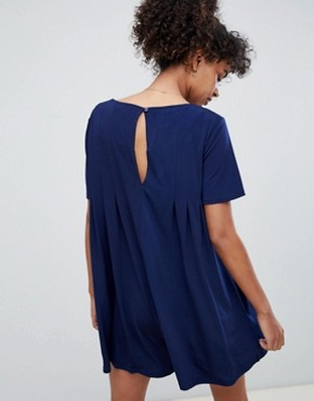 photo Shift T-Shirt Dress by QED London, color Navy - Image 2