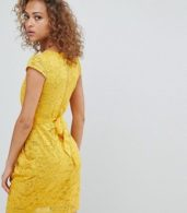 photo Lace Tulip Dress by QED London, color Sunflower - Image 2