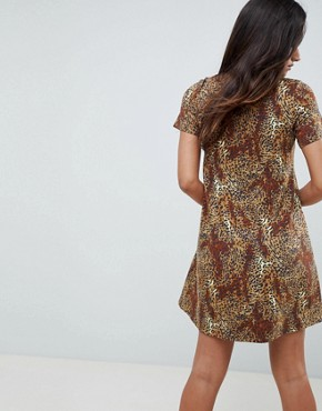 photo Leopard Print Swing Dress by ASOS DESIGN, color Leopard Print - Image 2