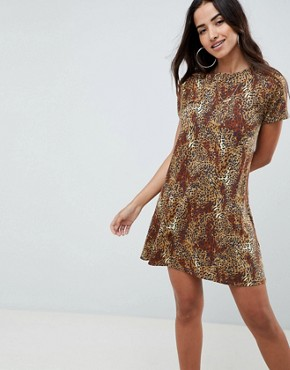 photo Leopard Print Swing Dress by ASOS DESIGN, color Leopard Print - Image 1