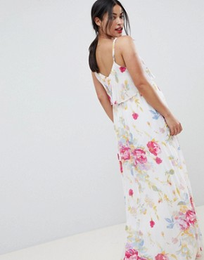 photo Maternity Pleated Maxi Dress in Rose Floral Print by ASOS DESIGN, color Multi - Image 2