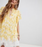 photo Marigold Print Tunic Dress by Free People, color Ivory - Image 4