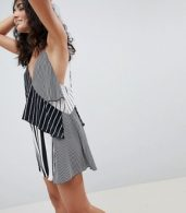 photo Mixed Stripe Layered Beach Dress by ASOS DESIGN, color Multi Spot - Image 1