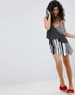 photo Mixed Stripe Layered Beach Dress by ASOS DESIGN, color Multi Spot - Image 4
