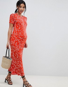 photo Maternity City Maxi Tea Dress in Star Print by ASOS DESIGN, color Multi - Image 1