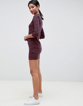 photo Tim Tim Stripe Jersey Dress by French Connection, color Multi - Image 4