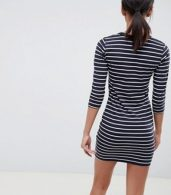 photo Tim Tim Stripe Jersey Dress by French Connection, color Utility Blue/White - Image 2