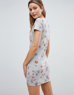 photo Floral Print Dress by French Connection, color Grey Mel/Multi - Image 2