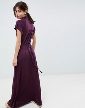 photo Callie Printed Maxi Dress by French Connection, color Purple - Image 2