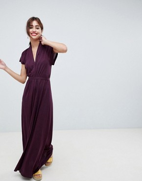 photo Callie Printed Maxi Dress by French Connection, color Purple - Image 1
