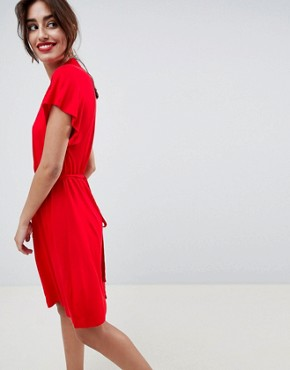 photo Medina Til Print Tie Waist Dress by French Connection, color Mars Red - Image 2