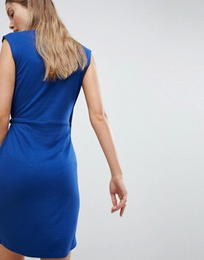 photo Sub Manhattan Wrap Dress by French Connection, color Blue Depths - Image 2