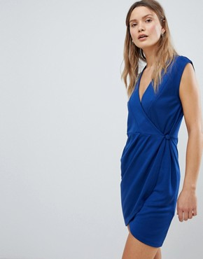 photo Sub Manhattan Wrap Dress by French Connection, color Blue Depths - Image 1