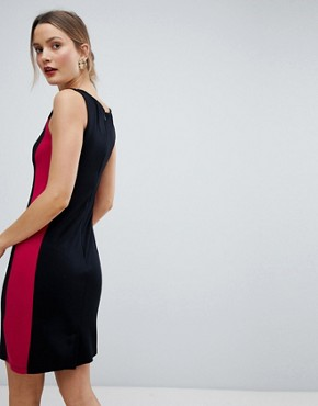 photo Lula Ponte Pencil Dress by French Connection, color Black/Summer Rouge - Image 2