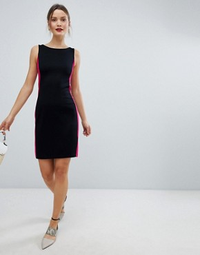 photo Lula Ponte Pencil Dress by French Connection, color Black/Summer Rouge - Image 4