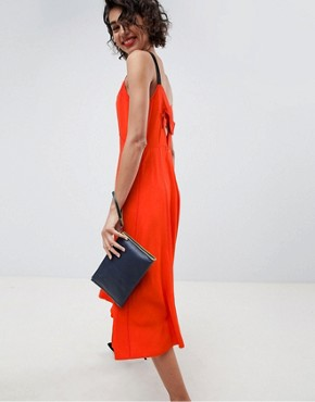 photo Strap Midi Dress by ASOS WHITE, color Red - Image 1