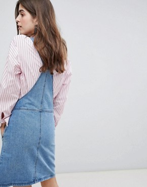 photo Margaret Denim Pinafore Dress by Gestuz, color 90s Blue - Image 2