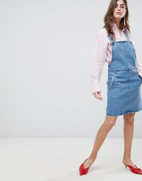 photo Margaret Denim Pinafore Dress by Gestuz, color 90s Blue - Image 1