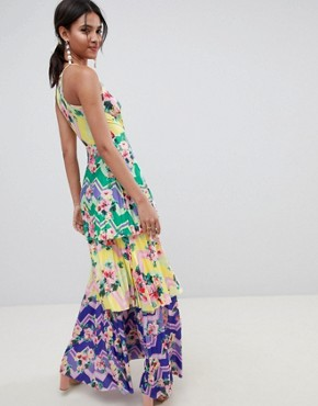 photo Tiered Printed Maxi Dress by ASOS DESIGN, color Multi - Image 2