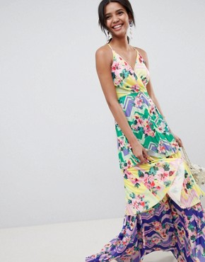 photo Tiered Printed Maxi Dress by ASOS DESIGN, color Multi - Image 1