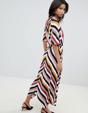 photo Stripe Midaxi Dress with Asymetric Hem by Y.A.S, color Multi - Image 2