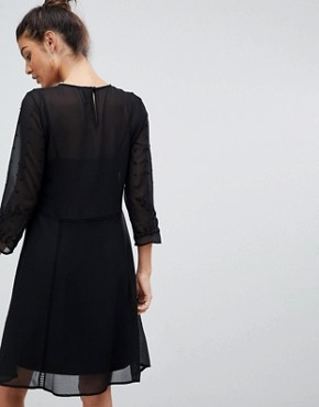 photo Embroidered Lace Dress by Y.A.S, color Black - Image 2