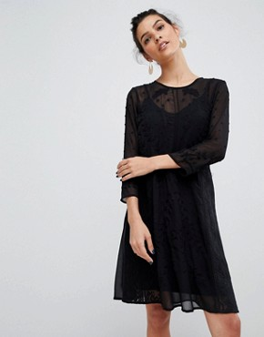 photo Embroidered Lace Dress by Y.A.S, color Black - Image 1