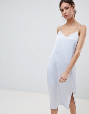 photo Eva Midi Slip Dress by Pieces, color Xenon Blue - Image 1