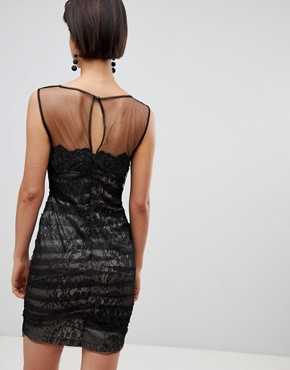 photo Lace Mini Dress by Forever Unique, color Black - Image 2